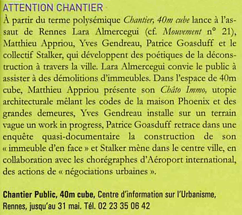 Chantier Public #1
